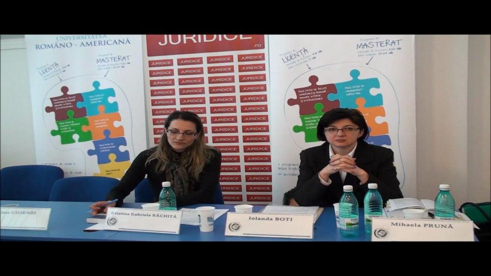 Cristina Rachita – Dezbateri – Concluzii  | NCC – Exercitarea autoritații parintești- probleme românesti | 2 martie 2012