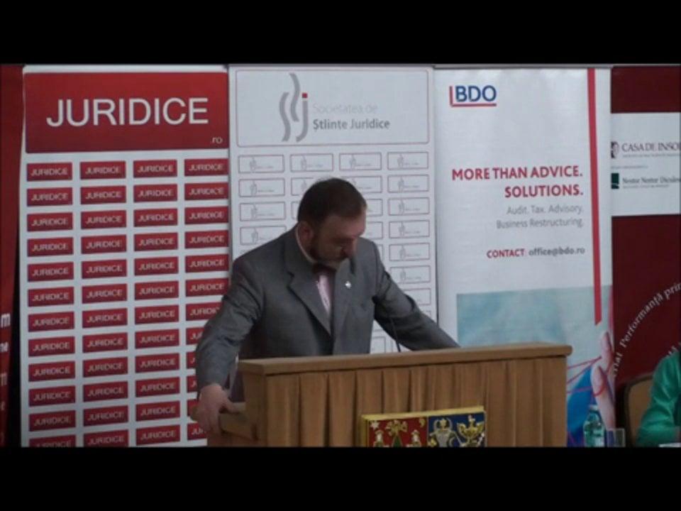 Cuvant introductiv Flaviu Baias | Conferința de Dreptul Afacerilor. Lecțiile crizei: adaptabilitatea și inovația | 11 mai 2012