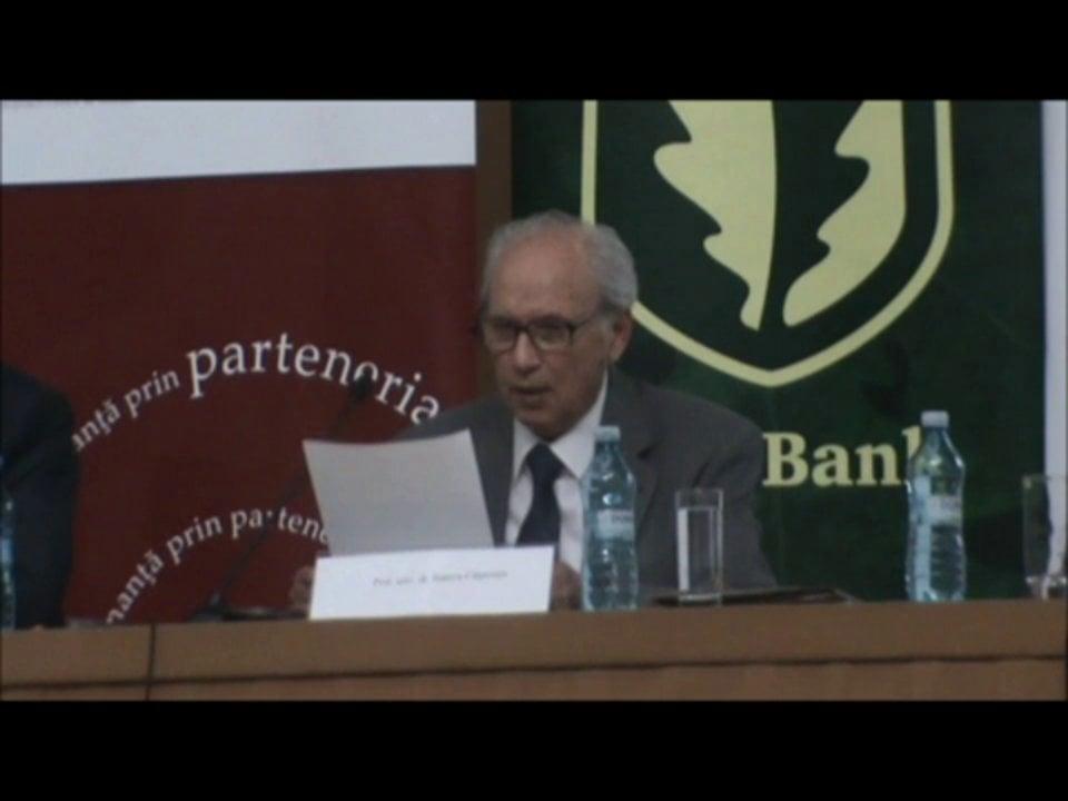 Stanciu Carpenaru | Conferința de Dreptul Afacerilor. Lecțiile crizei: adaptabilitatea și inovația | 11 mai 2012