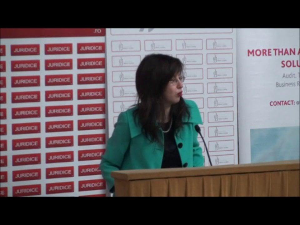 Adriana Almasan | Conferința de Dreptul Afacerilor. Lecțiile crizei: adaptabilitatea și inovația | 11 mai 2012
