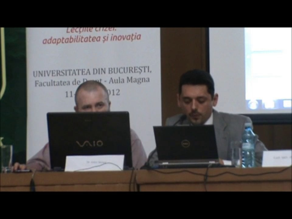 Razvan Dinca   Conferința de Dreptul Afacerilor. Lecțiile crizei: adaptabilitatea și inovația   11 mai 2012