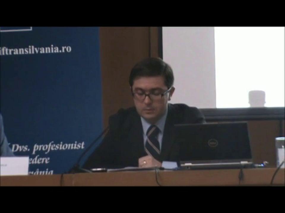 Lucian Bercea   Conferința de Dreptul Afacerilor. Lecțiile crizei: adaptabilitatea și inovația   11 mai 2012