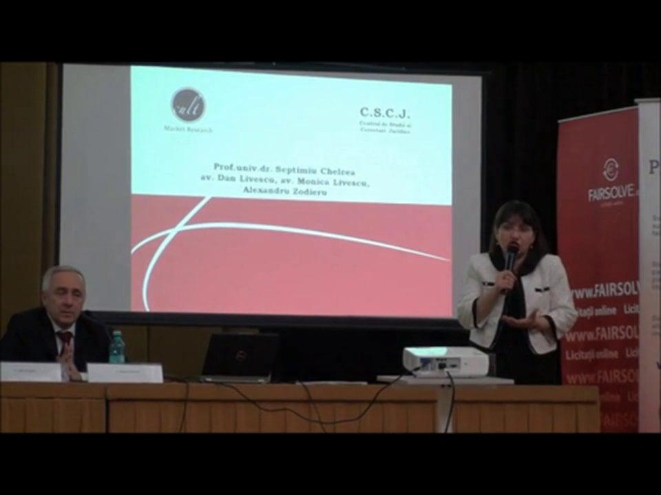 Dan Livescu, Monica Livescu | Conferința de Dreptul Afacerilor. Lecțiile crizei: adaptabilitatea și inovația | 11 mai 2012