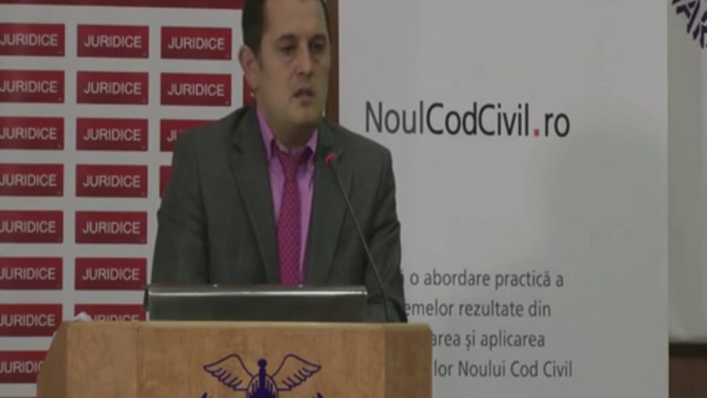 Gheorghe Piperea | Probleme dificile de drept civil | 28 -29 noiembrie 2012