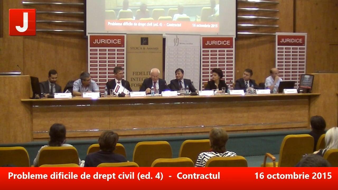 Probleme dificile de drept civil (ed. 4). Contractul (art. 1166-1323 Cod civil) | PANEL 3