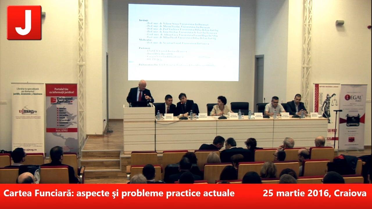 Cartea Funciară: aspecte şi probleme practice actuale   PANEL 1