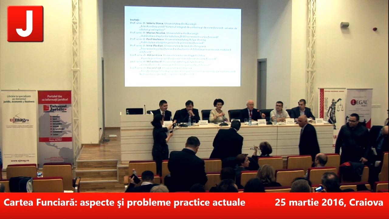 Cartea Funciară: aspecte şi probleme practice actuale   PANEL 2