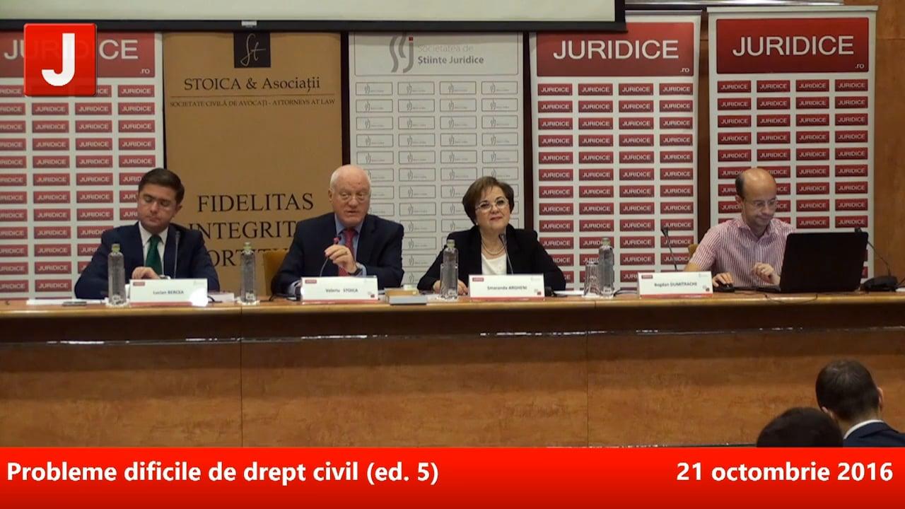 Probleme dificile de drept civil (ed. 5)   PANEL 1