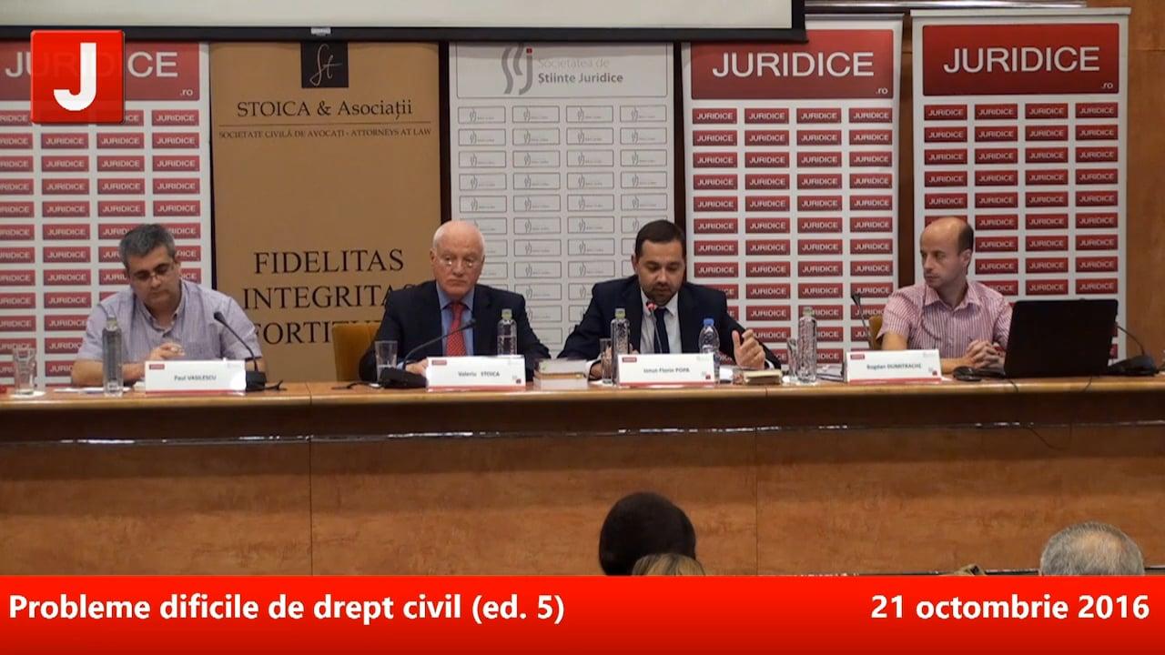 Probleme dificile de drept civil (ed. 5) | PANEL 2