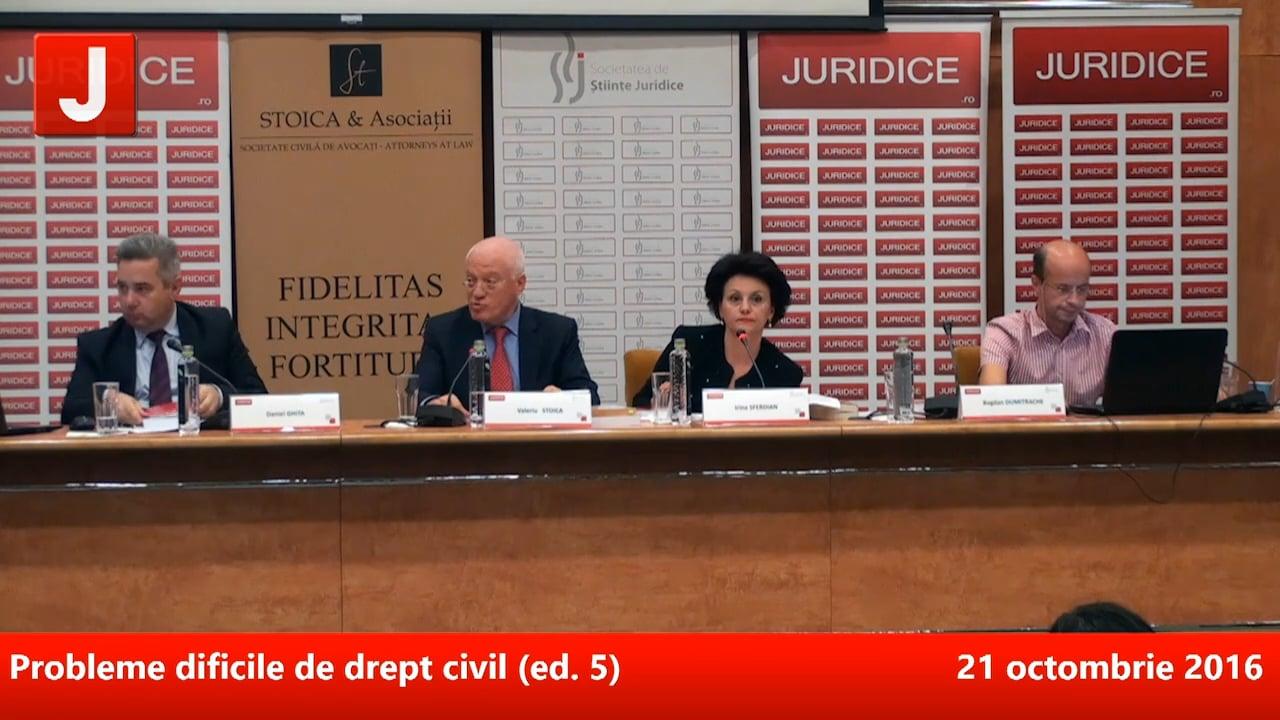 Probleme dificile de drept civil (ed. 5)   PANEL 3