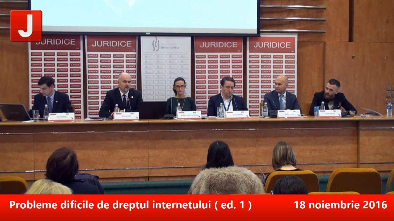 Probleme dificile de dreptul internetului (prima ediție)   PANEL 2