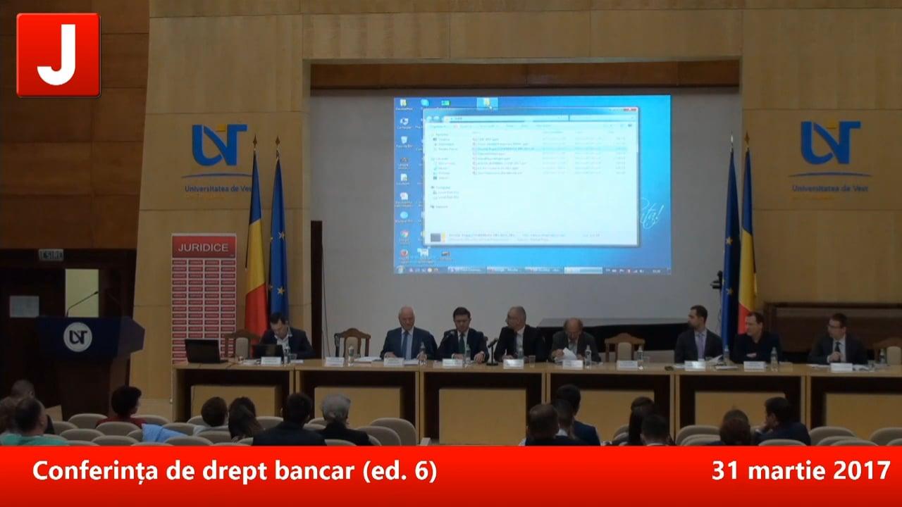 Conferința de drept bancar (ed. 6)   PANEL 2