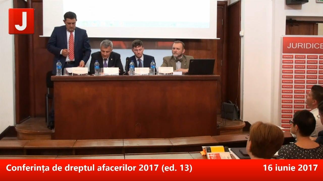 Conferința de dreptul afacerilor 2017 (ed. 13) | PANEL 1