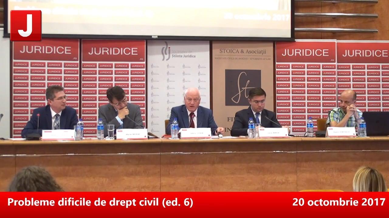 Probleme dificile de drept civil (ed. 6) | PANEL 2