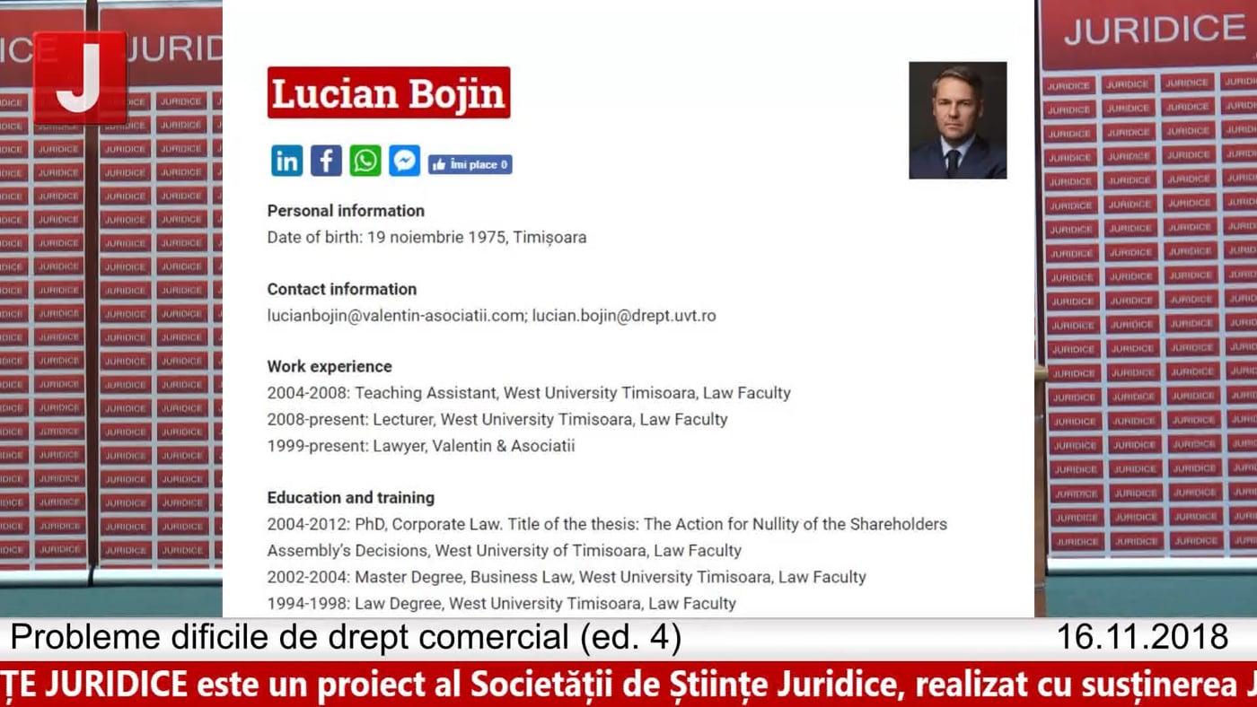 Lucian Bojin | Probleme dificile de drept comercial (ed. 4)