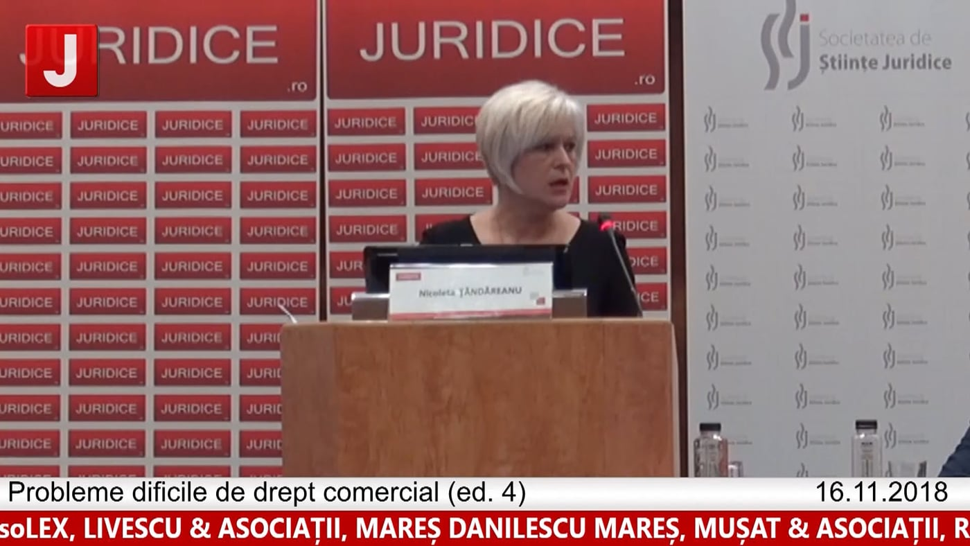 Nicoleta Țăndăreanu   Probleme dificile de drept comercial (ed. 4)
