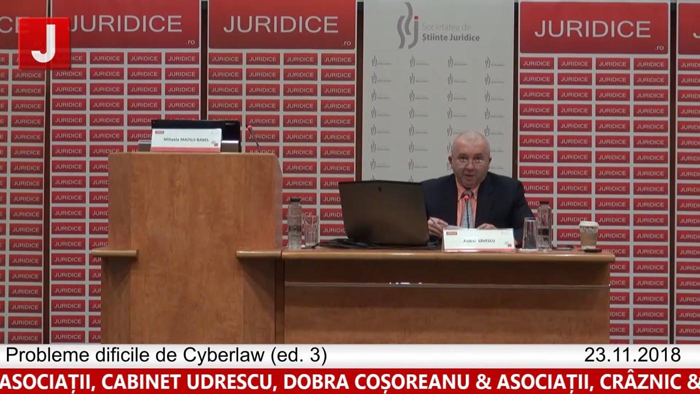 Andrei Săvescu   Concluzii    Probleme dificile de Cyberlaw (ed. 3).