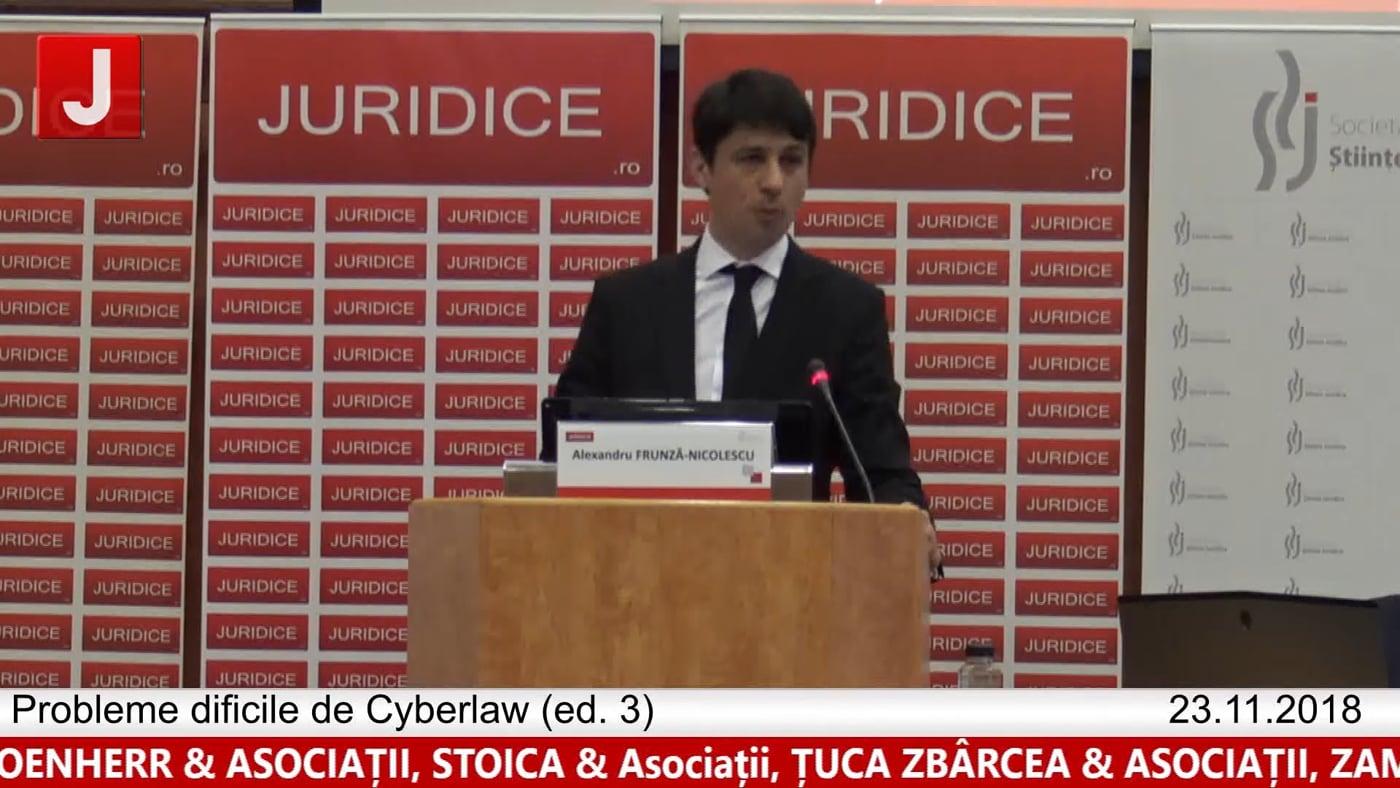Alexandru Frunza Nicolescu  | Probleme dificile de Cyberlaw (ed. 3).