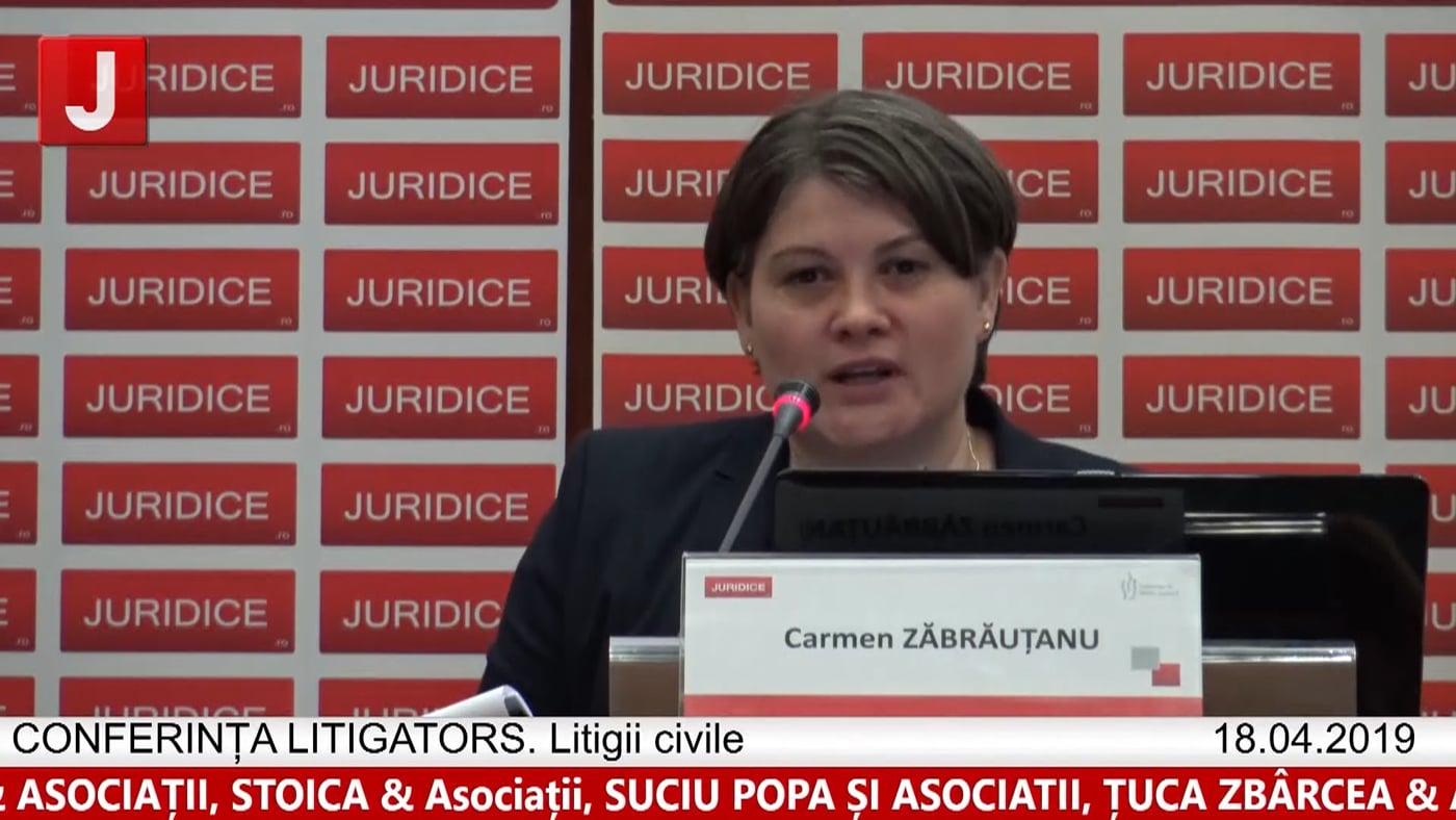 Carmen Zăbrăuțanu   LITIGATORS   Drept Civil