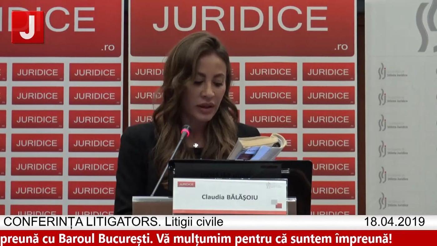 Claudia Bălășoiu   LITIGATORS   Drept Civil