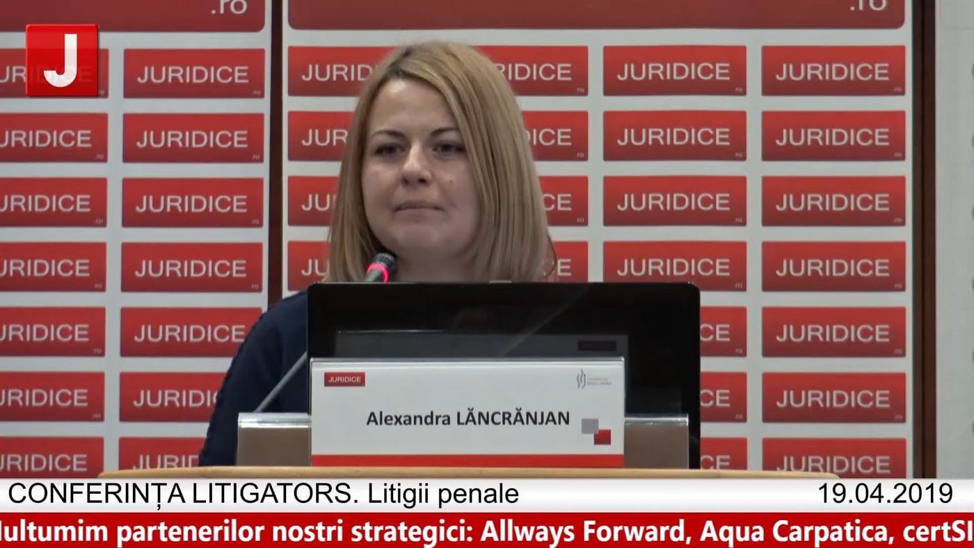 Alexandra Lăncrăjan | LITIGATORS | Drept Penal