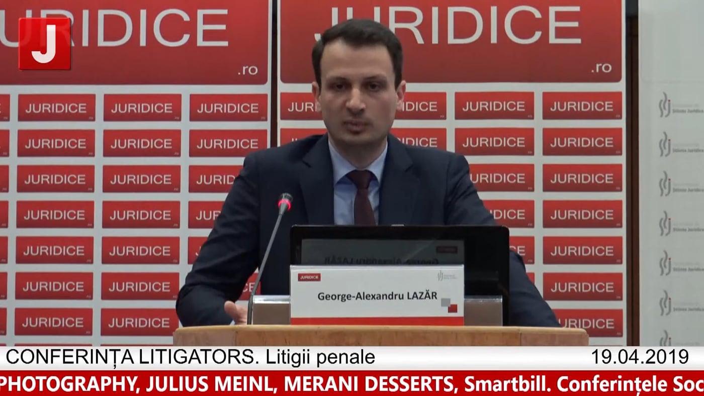 George Alexandru Lazăr   LITIGATORS   Drept Penal