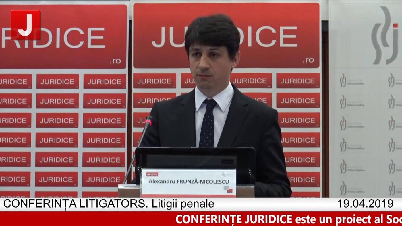 Alexandru Frunză Nicolescu | LITIGATORS | Drept Penal