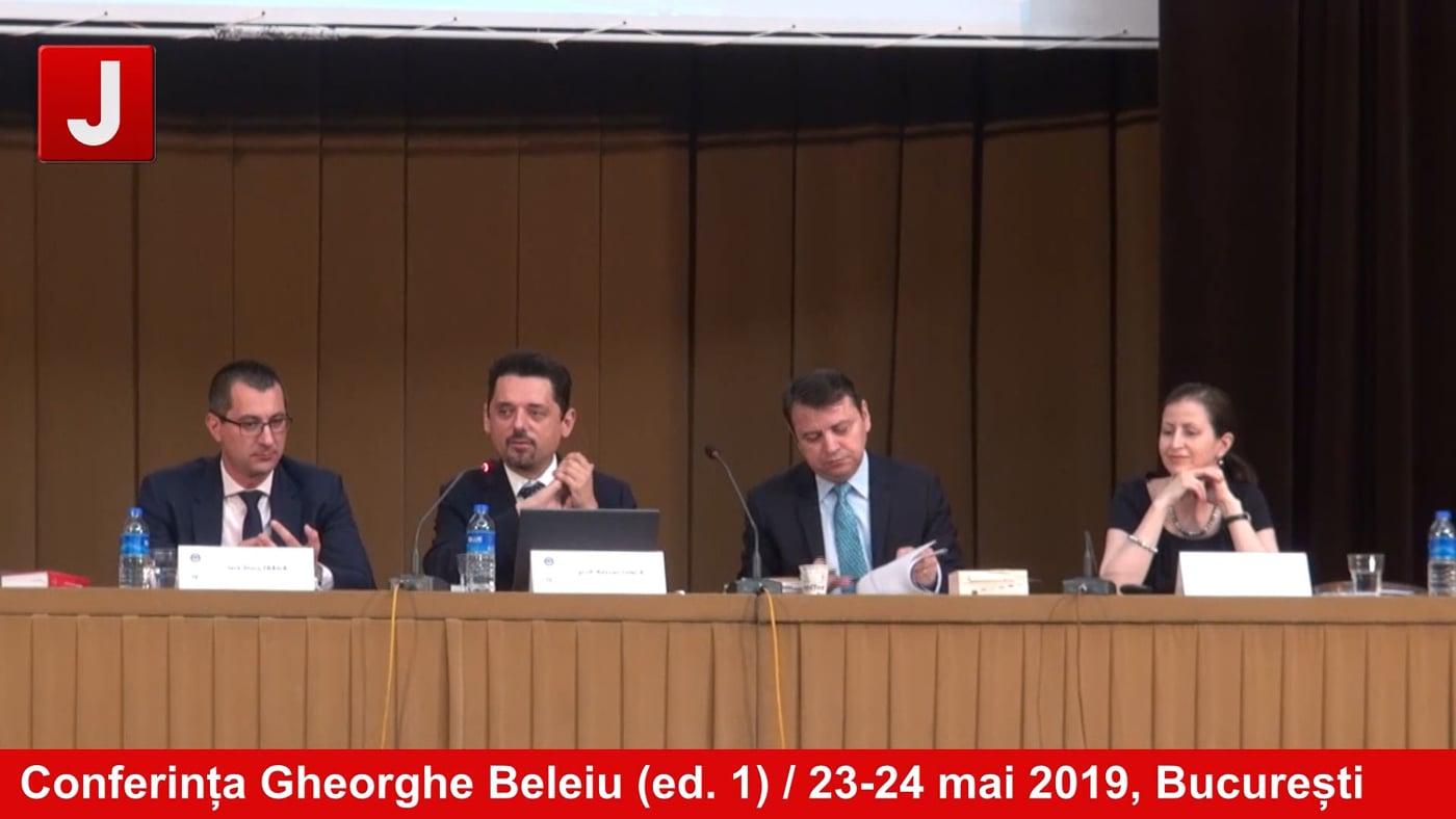 Conferința Gheorghe Beleiu (ed. 1) / 23-24 mai 2019, București | ZIUA 2 |  PANEL 2 |