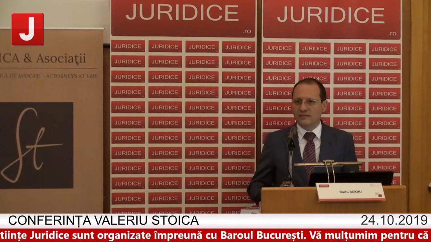 Radu Rizoiu – Conferința Valeriu Stoica 2019