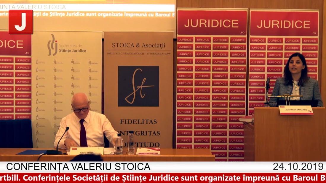Laura Toma Gauceanu – Conferința Valeriu Stoica 2019