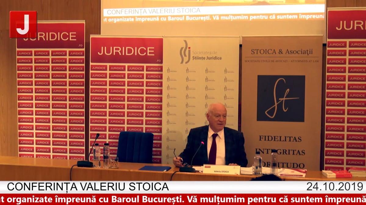 Valeriu Stoica – Conferința Valeriu Stoica 2019