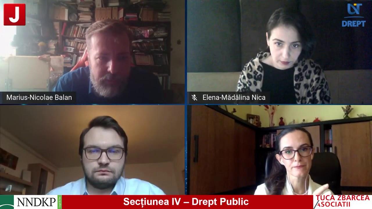 Secțiunea IV – Drept Public