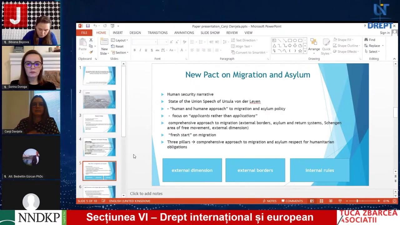 Secţiunea VI – Drept internațional și european Ziua 2