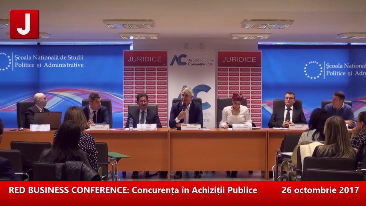RED BUSINESS CONFERENCE: Concurența în Achiziții Publice 26.10.2017