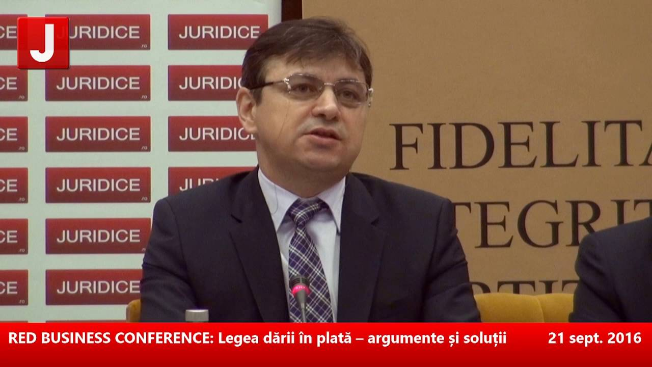 Legea dării în plată – argumente și soluții 21.09.2016 (panel 1)