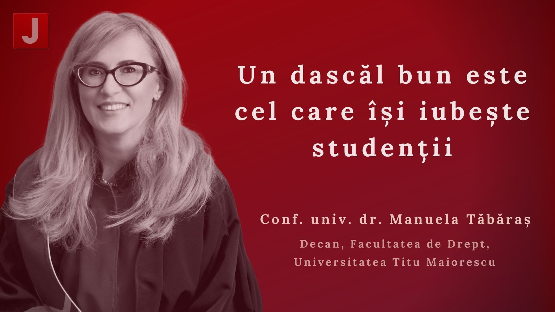 Manuela Tăbăraș: Un dascăl bun este cel care își iubește studenții